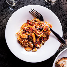 Food & Wine: Pasta with Scallops, Capers and Grilled Scallions