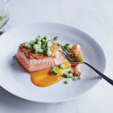 Food & Wine: Quinoa-Crusted Salmon with Spicy Orange-Miso Sauce