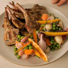 Food & Wine: Jardinière de Légumes and Grilled Lamb Chops