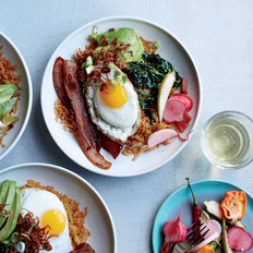 mkgalleryamp; Wine: Bacon Fried Rice with Avocado and Fried Eggs