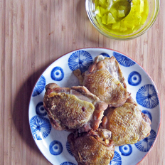 Food & Wine: Roast Chicken Thighs with Lemon Vinaigrette