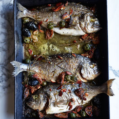 Food & Wine: Roast Dorade with Figs, Olives and Almonds