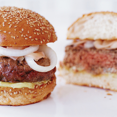 Food & Wine: Sirloin Burgers with Wasabi Mayo and Ginger-Pickled Onions