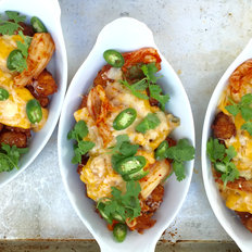 Food & Wine: Tater Tot Nachos (Tatchos) with Kimchi Cheese Sauce
