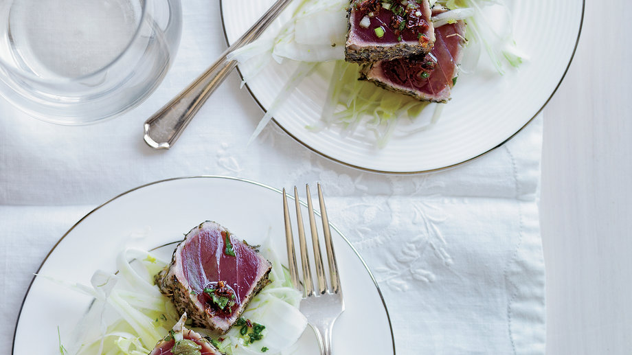 Seared Tuna with Sauce Vierge