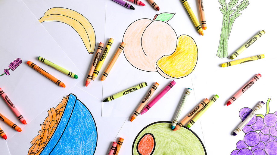 Food & Wine: We Compared Crayola Crayon Food Colors to Actual Food