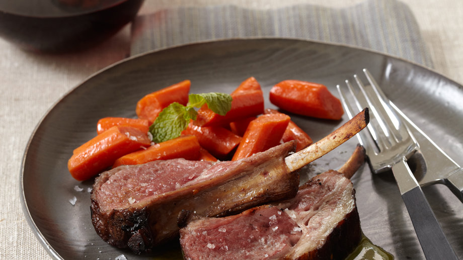 Marinated Rack of Lamb with Honey-Mint Vinaigrette