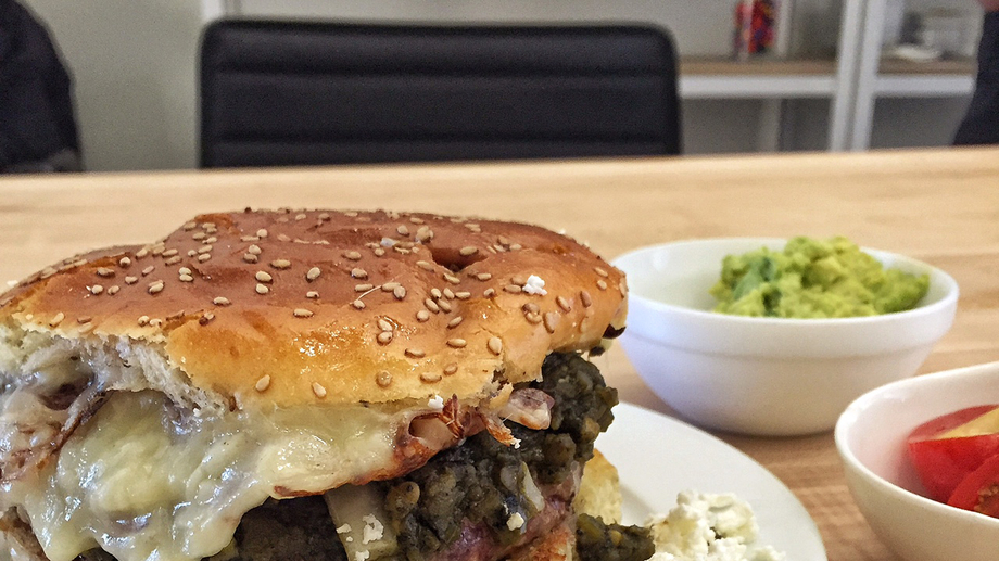 Mission Cantina Green Chile Burgers