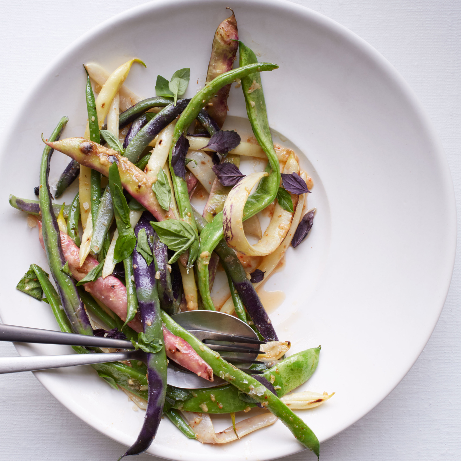 Summer Bean Salad with Roasted Garlic Vinaigrette Recipe - Michael ...