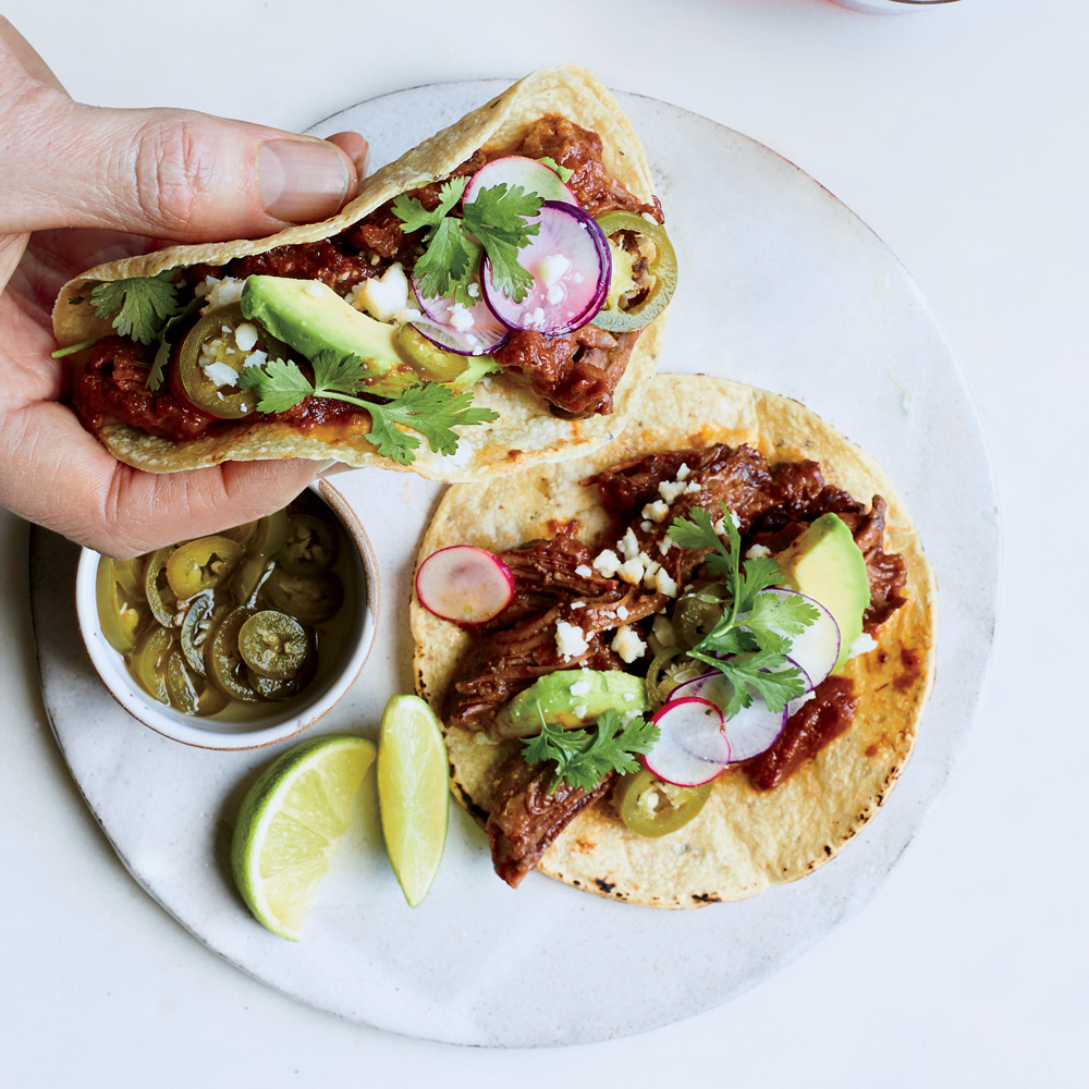 Texas Chile Short Rib Tacos Recipe - Matt Lee and Ted Lee | Food & Wine