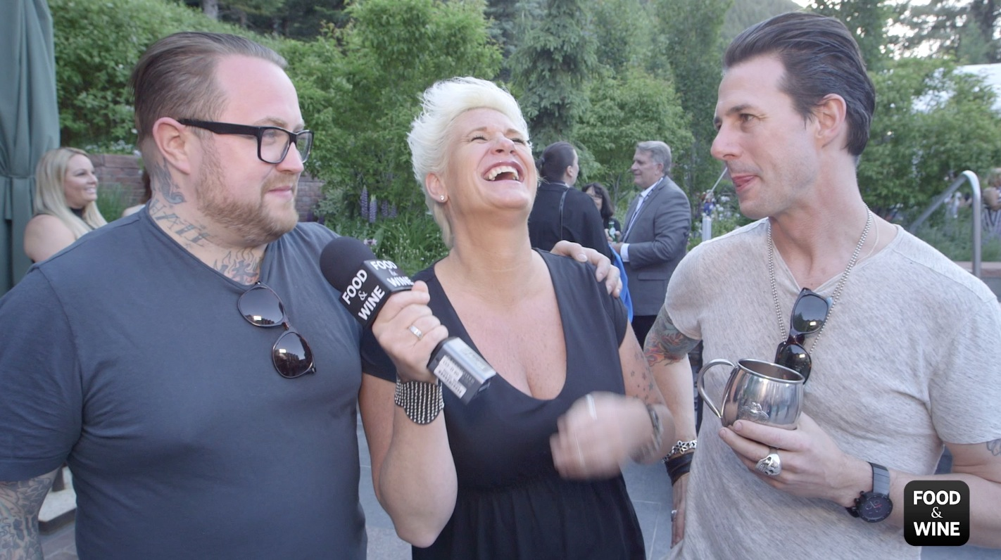 Anne Burrell Plays Cook, Hire, Serve with Chef Friends