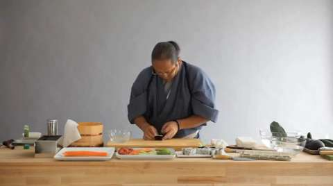 Morimoto: Cutting and Plating Sushi