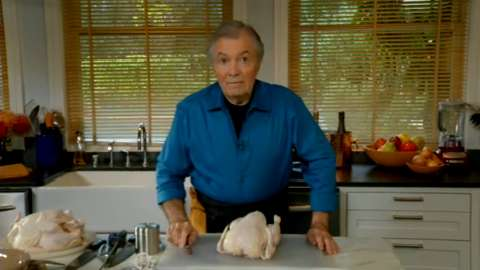 Jacques Pépin: Trussing a Chicken