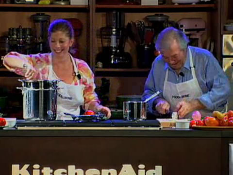 Jacques and Claudine Pépin: Tall Greek Tomato Salad