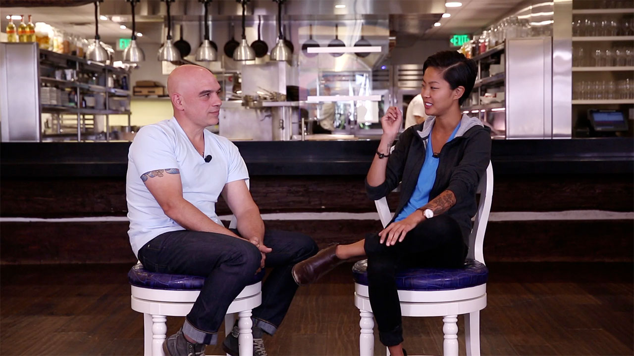 Michael Symon and Kristen Kish: How to Make Scrambled Eggs
