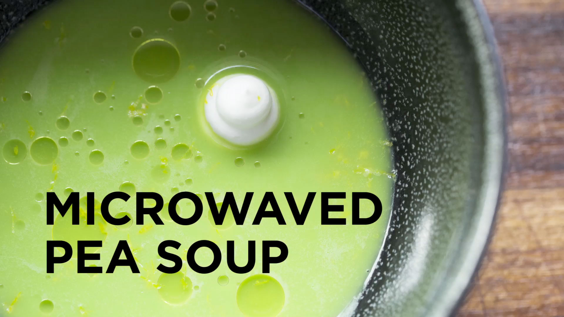 ChefSteps: Microwaved Pea Soup