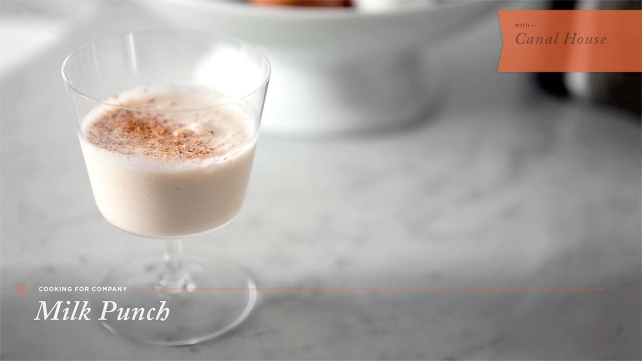 How to Make Milk Punch