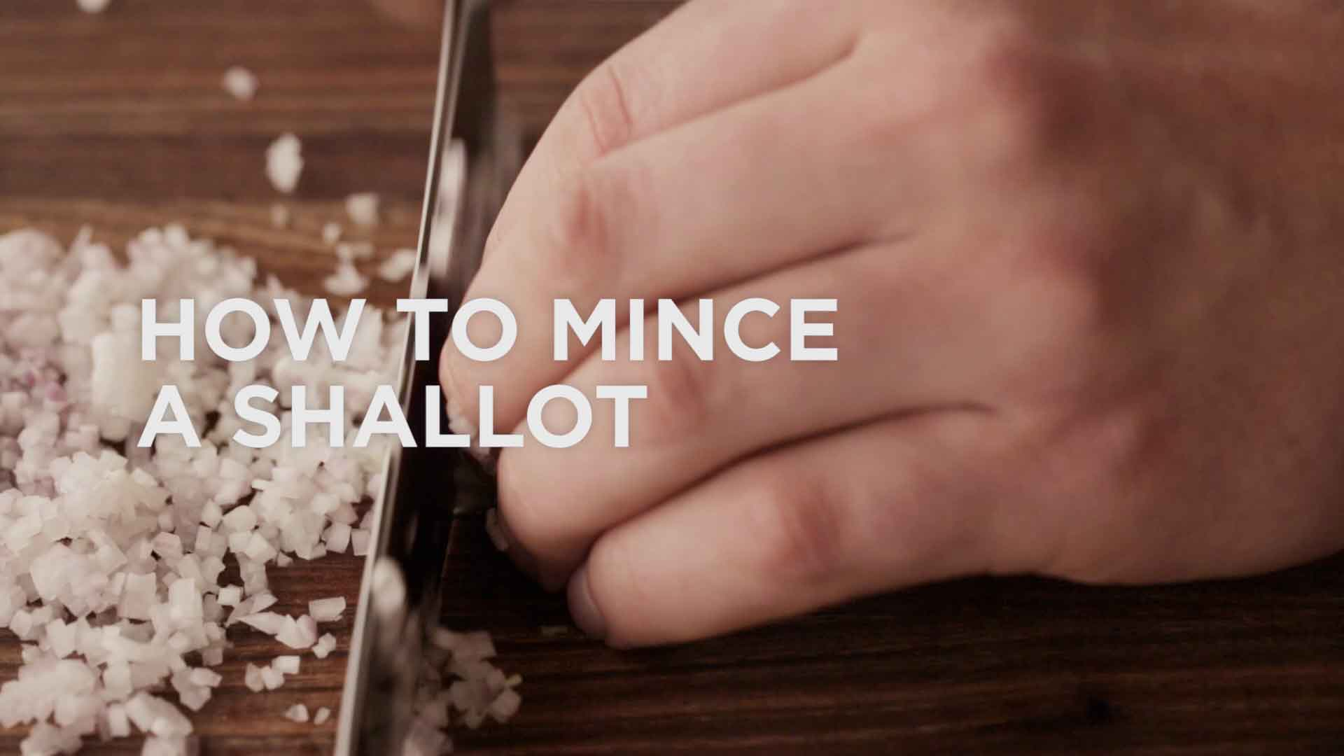 How To Mince Shallots