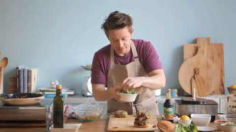 Richard Blais: Veggie Burgers with Pomegranate Ketchup